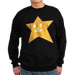 1 STAR SMILEY ORANGE Sweatshirt (dark)