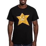 1 STAR SMILEY ORANGE Men's Fitted T-Shirt (dark)