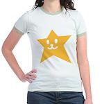 1 STAR SMILEY ORANGE Jr. Ringer T-Shirt