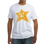1 STAR SMILEY ORANGE Fitted T-Shirt