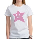 1 STAR SMILEY PINK Women's T-Shirt
