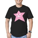 1 STAR SMILEY PINK Men's Fitted T-Shirt (dark)