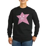 1 STAR SMILEY PINK Long Sleeve Dark T-Shirt