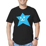 1 STAR SMILEY BLUE Men's Fitted T-Shirt (dark)