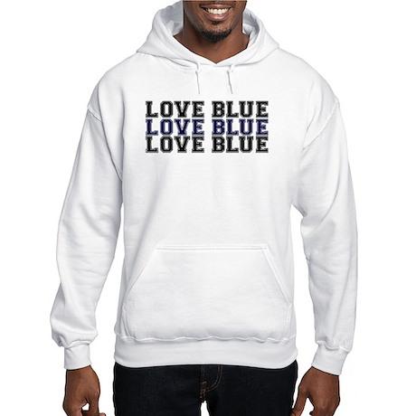 PoliceWives Love Blue Hooded Sweatshirt