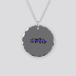 Thin Blue Line - The Mrs. Necklace Circle Charm
