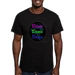 Neon Dancer Men's Fitted T-Shirt (dark)