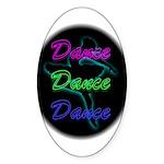 Neon Dancer Oval Sticker (10 pk)