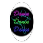 Neon Dancer Oval Sticker