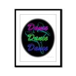 Neon Dancer Framed Panel Print