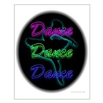 Neon Dancer Small Poster
