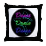 Neon Dancer Throw Pillow