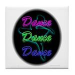 Neon Dancer Tile Coaster