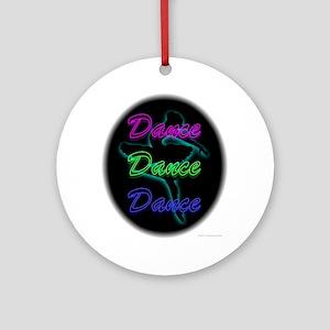 Neon Dancer Ornament (Round)