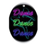 Neon Dancer Oval Ornament
