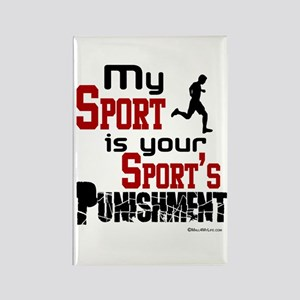 Your Sport's Punishment - Male Rectangle Magnet