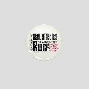 Real Athletes Run - Female Mini Button