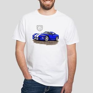 Viper Blue/White Car White T-Shirt