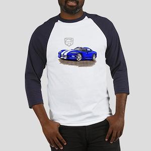 Viper Blue/White Car Baseball Jersey