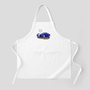 Viper Blue/White Car BBQ Apron