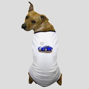 Viper Blue/White Car Dog T-Shirt
