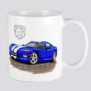 Viper Blue/White Car Mug