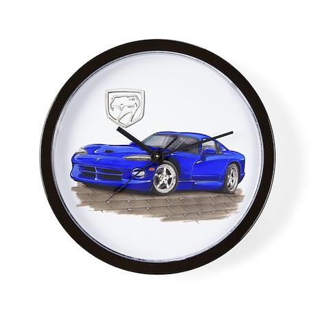 Viper Blue Car Wall Clock