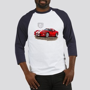 Viper Red/White Car Baseball Jersey