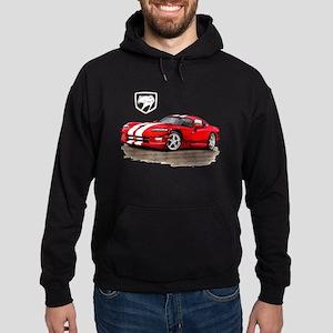 Viper Red/White Car Hoodie (dark)