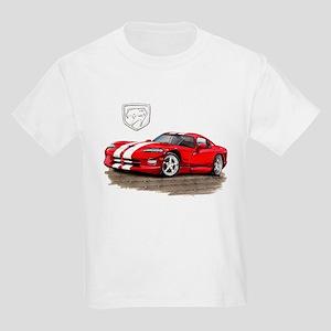 Viper Red/White Car Kids Light T-Shirt