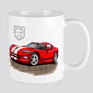 Viper Red/White Car Mug