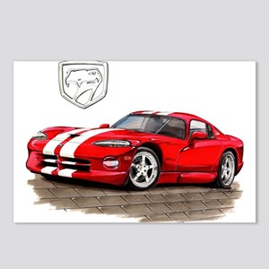 Viper Red/White Car Postcards (Package of 8)