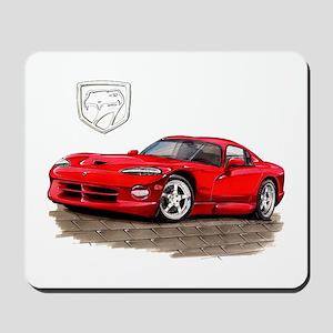 Viper Red Car Mousepad