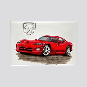 Viper Red Car Rectangle Magnet