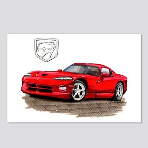 Viper Red Car Postcards (Package of 8)