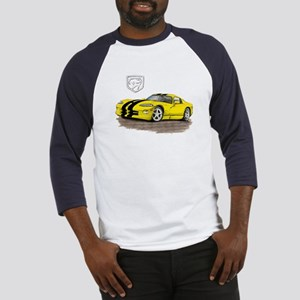 Viper Yellow/Black Car Baseball Jersey