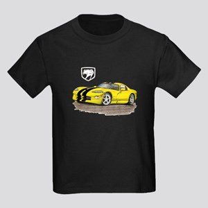 Viper Yellow/Black Car Kids Dark T-Shirt