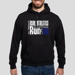 Real Athletes Run - Male Hoodie (dark)