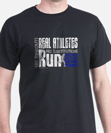 Real Athletes Run - Male T-Shirt