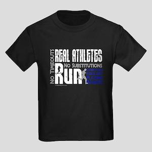Real Athletes Run - Male Kids Dark T-Shirt