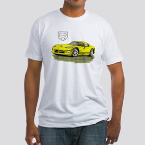 Viper Yellow Car Fitted T-Shirt
