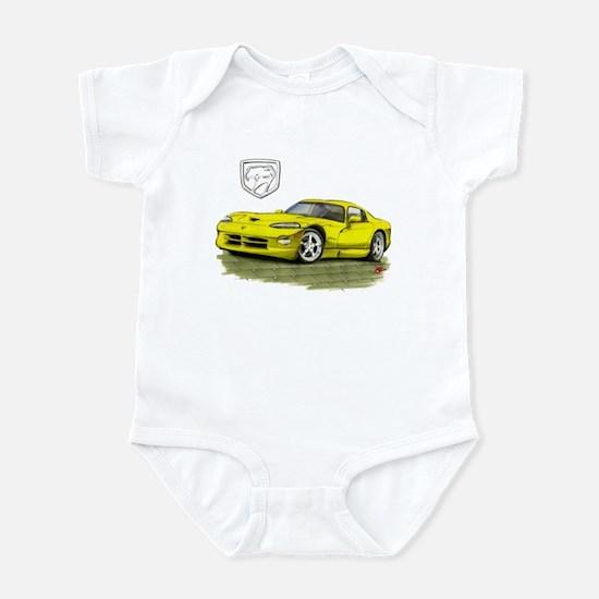 Viper Yellow Car Infant Bodysuit