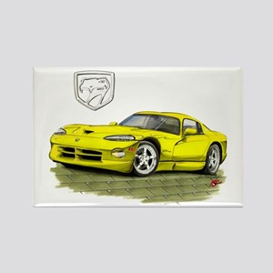 Viper Yellow Car Rectangle Magnet