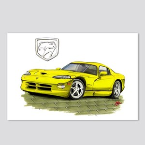 Viper Yellow Car Postcards (Package of 8)