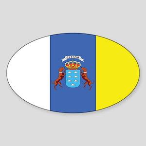 Canary Islands Flag Oval Sticker