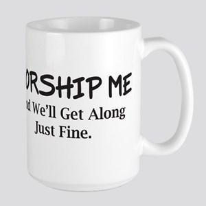 Worship Me Large Mug