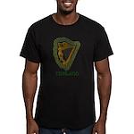 Irish Harp and Shamrock Men's Fitted T-Shirt (dark