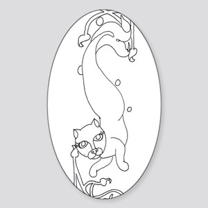 Catfish2 Oval Sticker