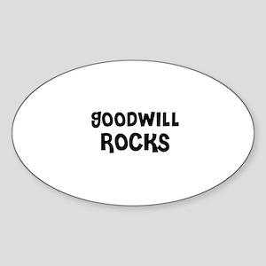 GOODWILL ROCKS Oval Sticker