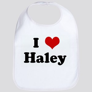 I Love Haley Bib